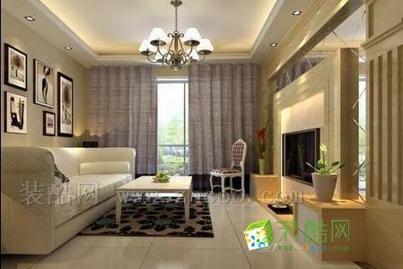 时尚客厅吊顶装修效果图 打造个性完美客厅-装酷网