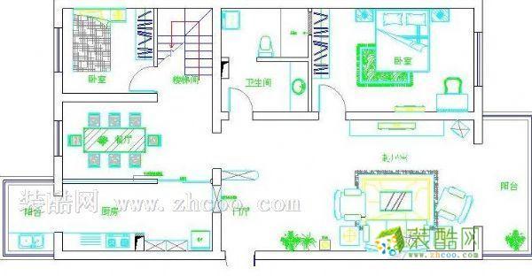 小二楼设计图13.5x8平面结构图