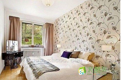臥室溫馨壁紙裝修圖片